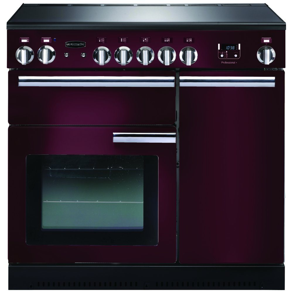 Rangemaster PROP90ECCY/C Professional Plus 90cm Electric Range Cooker - Cranberry