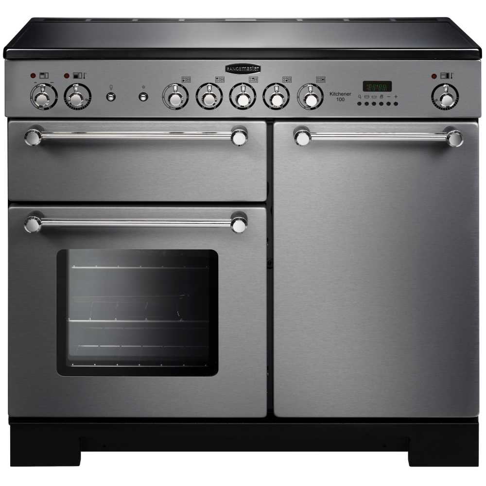 Rangemaster KCH100ECSS/C Kitchener 100cm Electric Range Cooker - Stainless Steel/Chrome