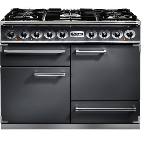 Falcon Delux 1092 F1092DXDFSL/NM 110cm Dual Fuel Range Cooker - Slate & Brushed Chrome