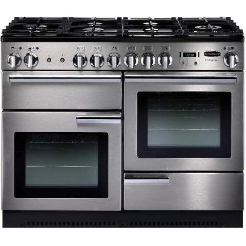 Rangemaster PROP110DFFSS/C Professional Plus 110cm Dual Fuel Range Cooker - Stainless Steel