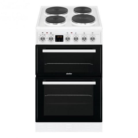 Simfer SCTD52EW 50cm Electric Cooker - White