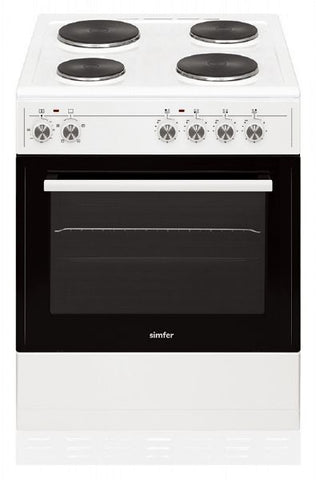 Simfer SCO60EW 60cm Single Cavity Electric Cooker - White