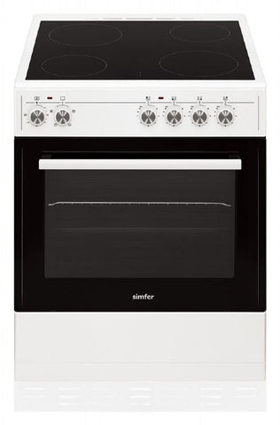 Simfer SCO60CEW 60cm Electric Cooker - White