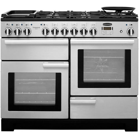 Rangemaster PDL110DFFSS/C Professional Deluxe 110cm Dual Fuel Range Cooker - Stainless Steel 97510