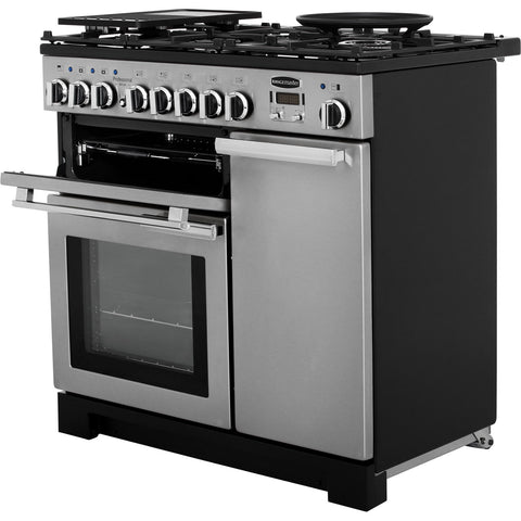 Rangemaster PDL90DFFSS/C Professional Deluxe 90cm Dual Fuel Range Cooker - Stainless Steel 97590