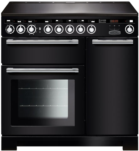 Rangemaster EDL90EIBL/C Encore Delux 90cm Induction Range Cooker - Black 117300