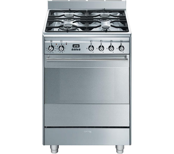 Smeg SUK61PX8 Dual Fuel Cooker - Stainless Steel