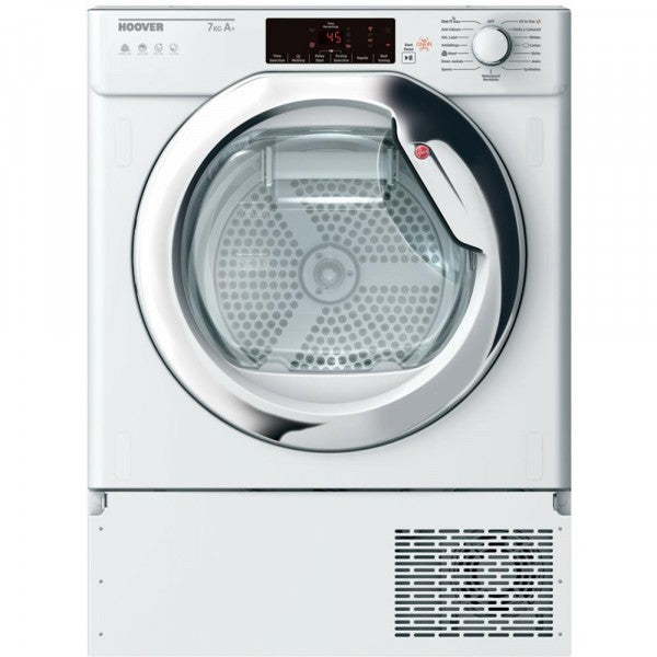 Hoover HBTDWH7A1TCE 7kg Built-In Heat Pump Tumble Dryer - White