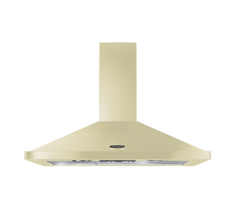 Rangemaster LEIHDC90CR/C 90cm Chimney Cooker Hood - Cream 95580
