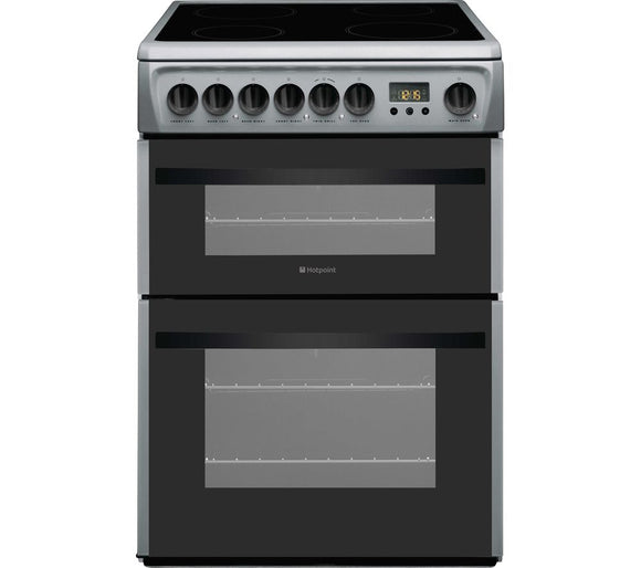 Hotpoint DCN60S 60cm Electric Cooker - Silver
