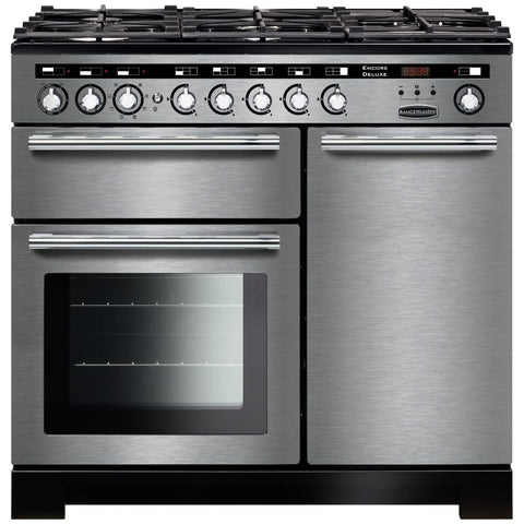 Rangemaster EDL100DFFSS/C Encore Delux 100cm Dual Fuel Range Cooker - Stainless Steel 117250