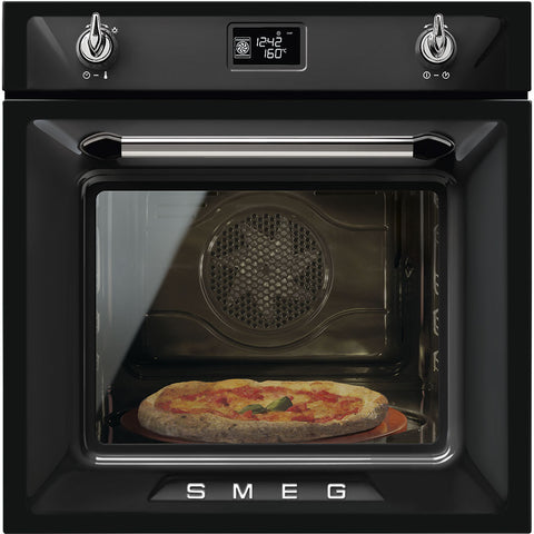 Smeg Victoria SFP6925NPZE1 Built-In Electric Single Oven - Black
