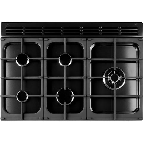Rangemaster KCH100DFFSS/C Kitchener 100cm Dual Fuel Range Cooker - Stainless Steel/Chrome