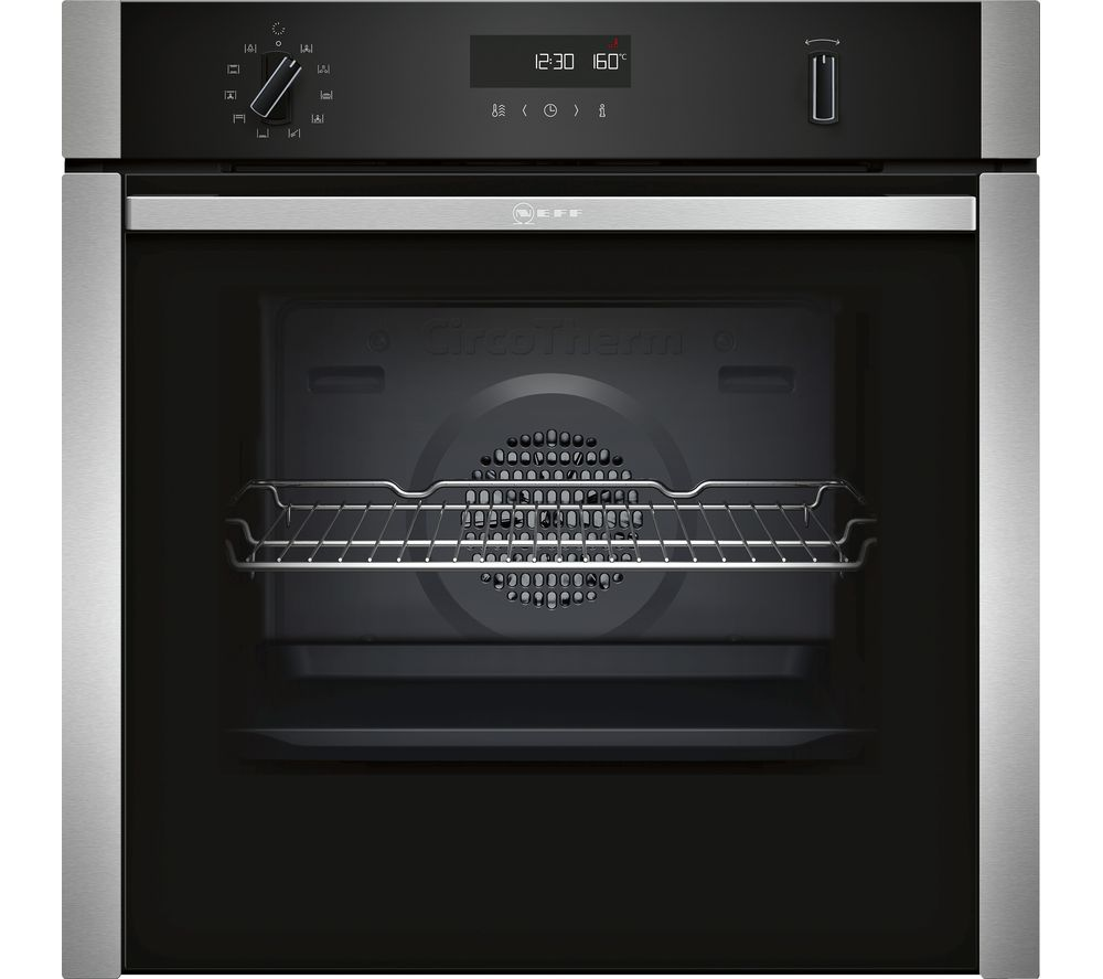 Neff B4ACM5HN0B 60cm Built-In Oven - S-Steel & Black Glass