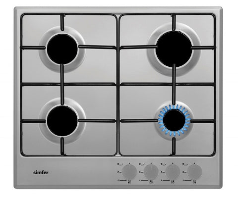 Simfer SBH60GSS 60cm Gas Hob - Stainless Steel