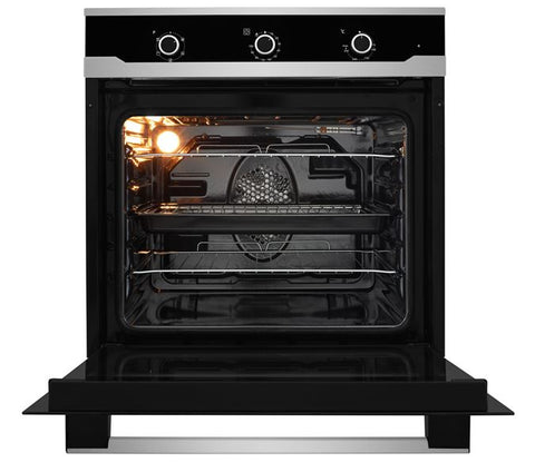 Flavel FLS62FX Built In Electric Oven - Stainless Steel/Black