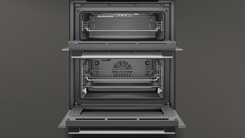 Neff J1ACE4HN0B 72cm Built-In Electric Oven - Stainless Steel and Black Glass