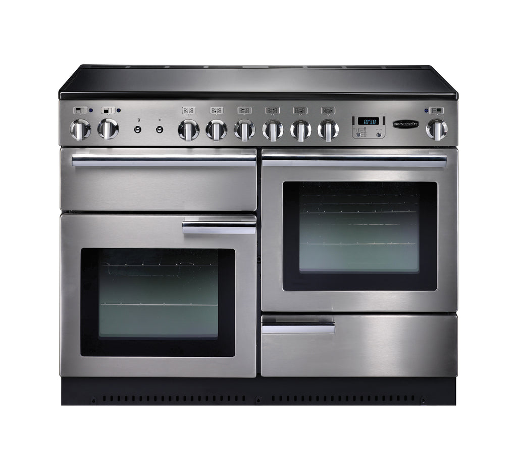 Rangemaster PROP110ECSS/C Professional Plus 110cm Electric Range Cooker - Stainless Steel/Chrome 83420