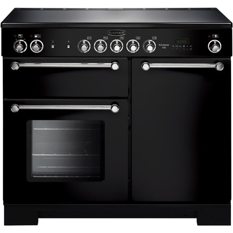 Rangemaster KCH100ECBL/C Kitchener 100cm Electric Range Cooker - Black Chrome