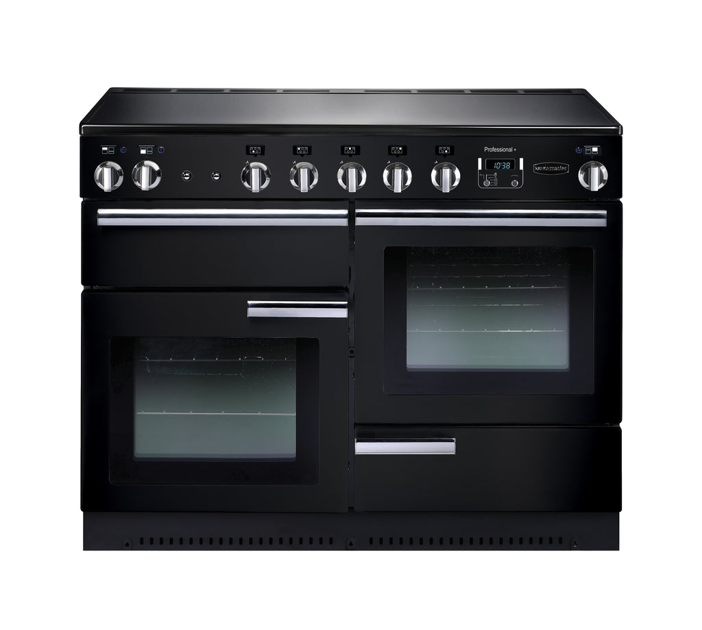 Rangemaster PROP110EIGB/C Professional Plus 110cm Induction Range Cooker - Black/Chrome 91780