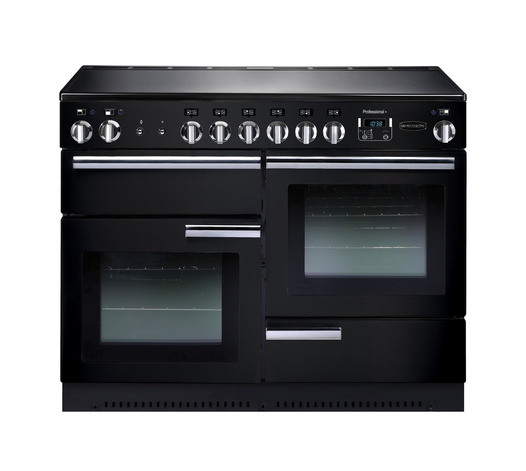 Rangemaster PROP110ECGB/C Professional Plus 110cm Electric Range Cooker - Black/Chrome 91880