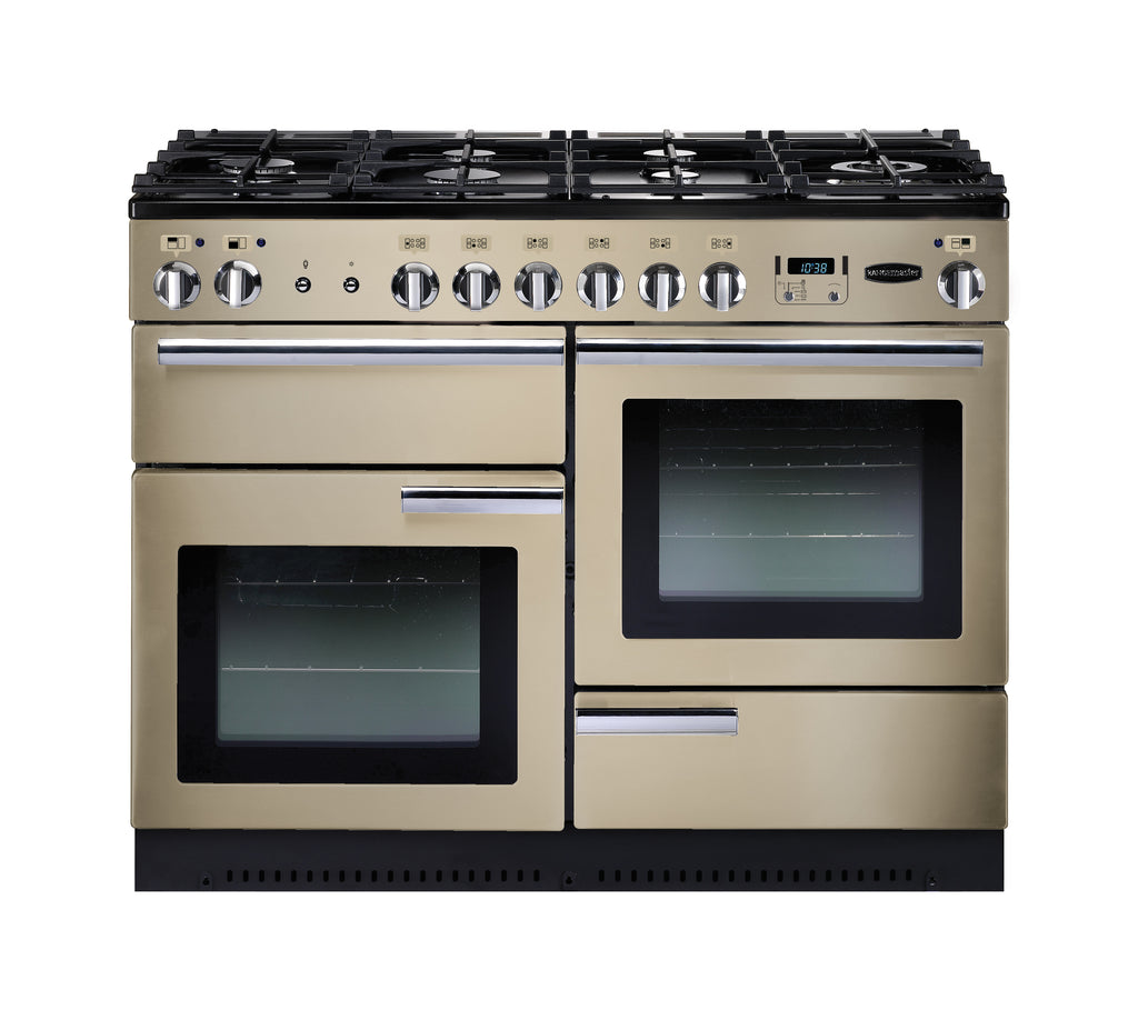 Rangemaster PROP110DFFCR/C Professional Plus 110cm Dual Fuel Range Cooker - Cream/Chrome 91670