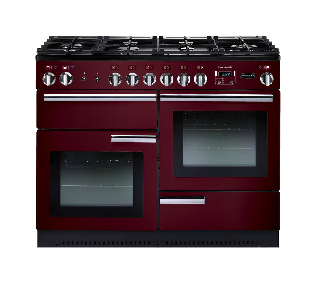Rangemaster PROP110NGFCY/C Professional Plus 110cm Gas Range Cooker - Cranberry/Chrome 91990