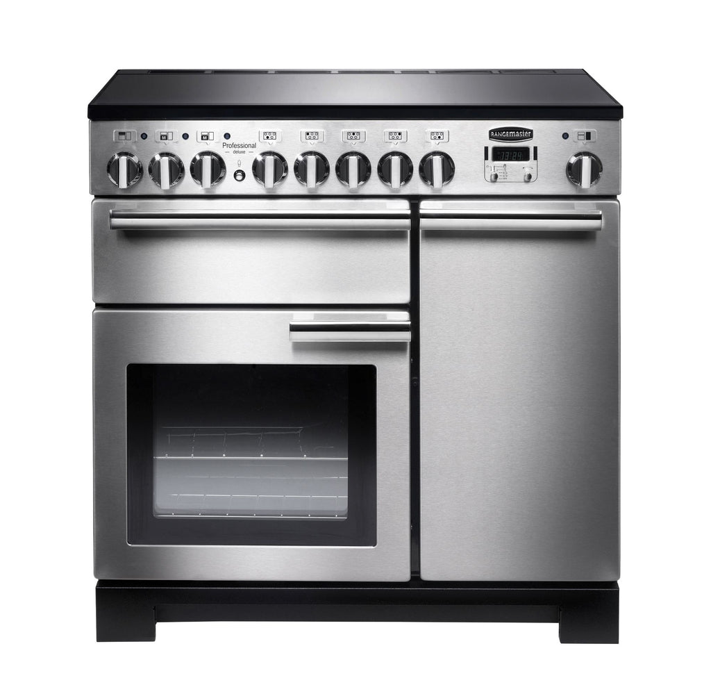 Rangemaster PDL90EISS/C Professional Deluxe 90cm Induction Range Cooker - Stainless Steel/ Chrome 97860