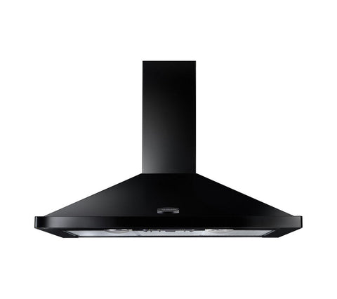 Rangemaster LEIHDC110BB 110cm Chimney Cooker Hood - Black/Brass 89310