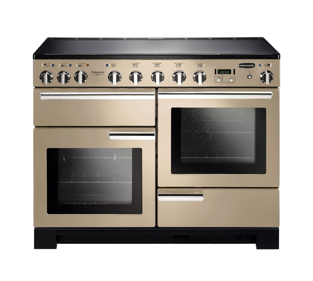 Rangemaster PDL110EICR/C Professional Deluxe 110cm Induction Range Cooker - Cream/Chrome 101560
