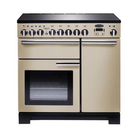 Rangemaster PDL90EICR/C Professional Deluxe 90cm Induction Range Cooker - Cream/ Chrome 97880
