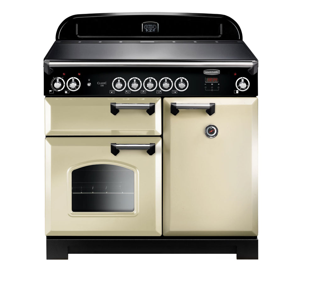 Rangemaster CLA100EICR/C Classic 100cm Induction Range Cooker - Cream/Chrome 117130