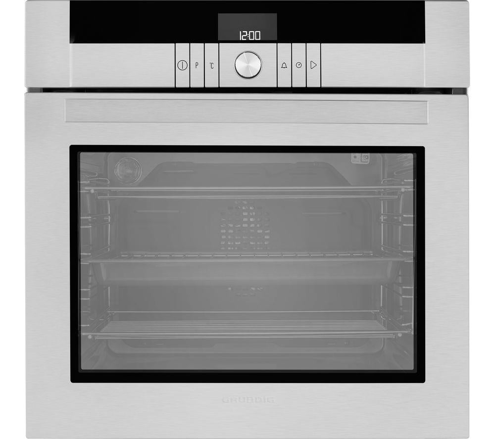 Grundig GEBF34000X 60cm Built-In Electric Single Oven - Stainless Steel