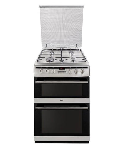 Amica AFG6570SS 60cm Double Oven Gas Cooker - Stainless Steel