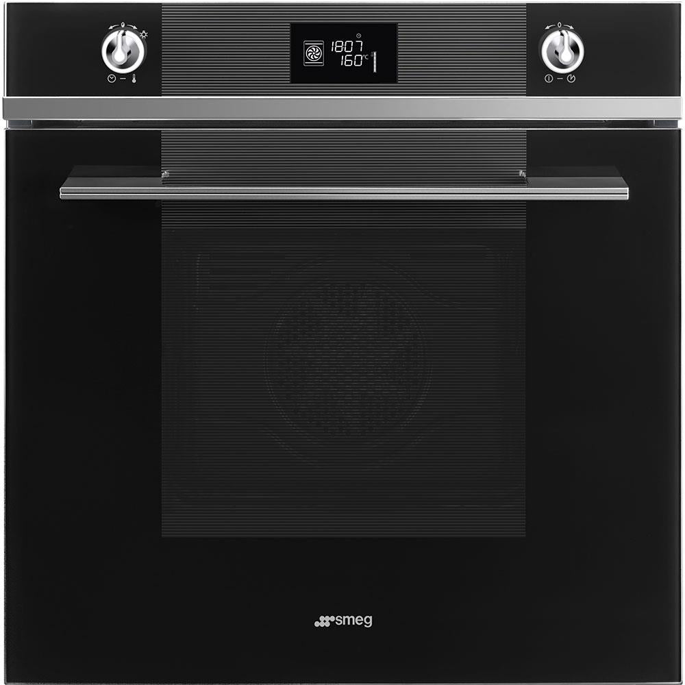 Smeg Linea SFP6102TVN Built-In Electric Single Oven - Black Glass