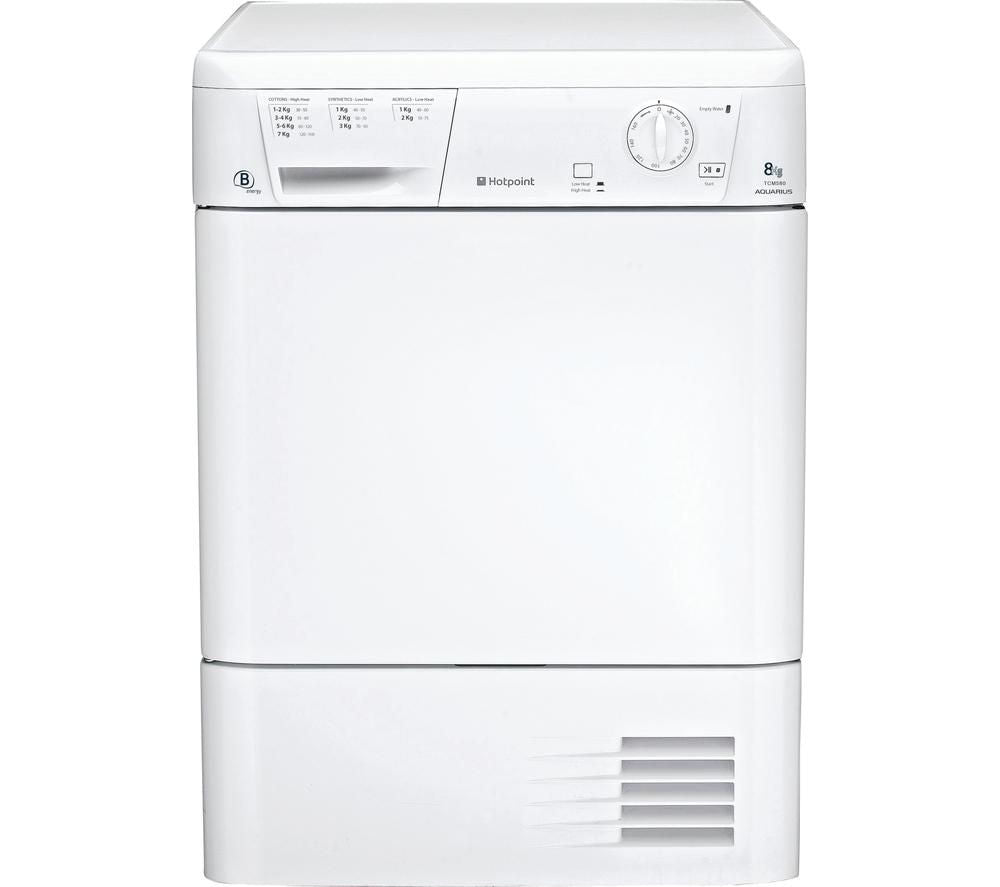 Hotpoint TCM580BP 8kg Condenser Tumble Dryer - White