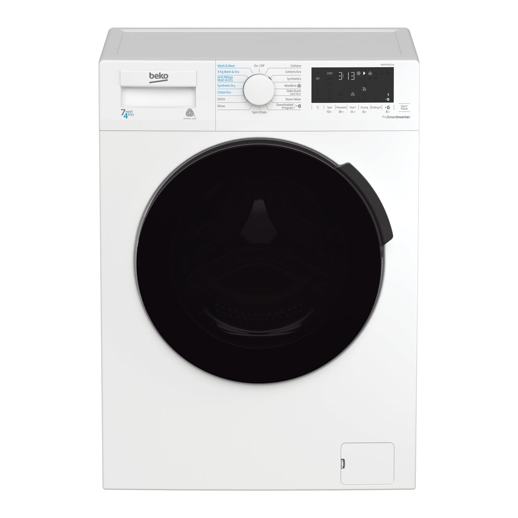 Beko WDB7426S1CW 7kg/4kg 1200rpm Washer Dryer - White