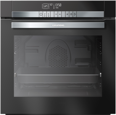 Grundig GEZM47001BP Pyrolytic Built-In Electric Single Oven - Black 5yr wrty