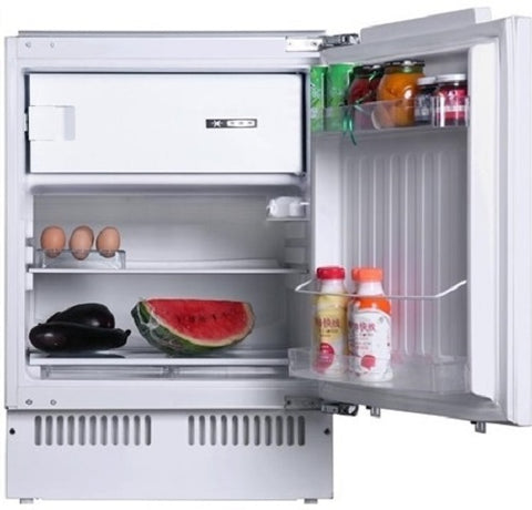 Iceking BU200 Built-In Under Counter Fridge with Ice Box - White