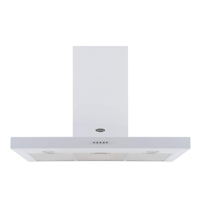 Belling 444442830 90 DB Flat 90cm Chimney Hood - White
