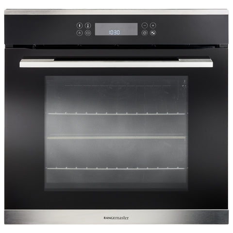Rangemaster RMB60TZBL/SS 60cm Built-In Electric Single Oven - Black/Stainless Steel