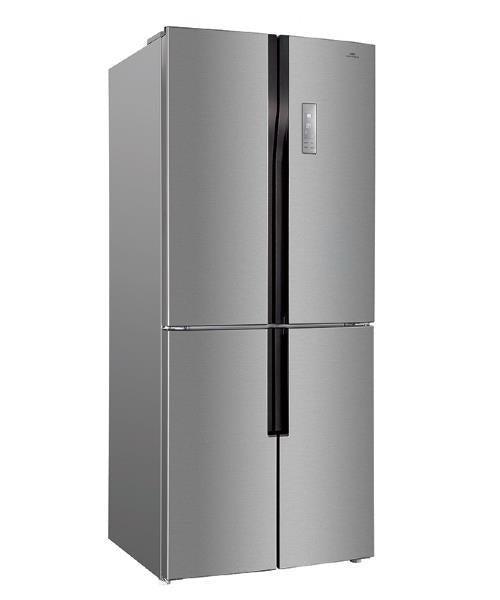 New World NWCFD418 American Style Frost Free Fridge Freezer - Stainless Steel