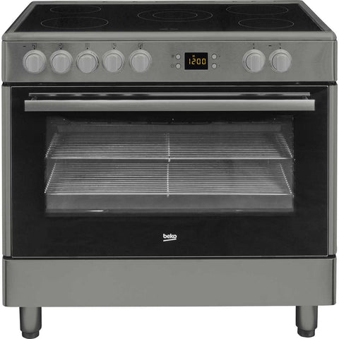 Beko BHSC90X 90cms Electric Range Cooker - Stainless Steel