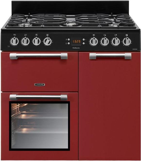 Leisure CK90F232R 90cms Dual Fuel Range Cooker - Red
