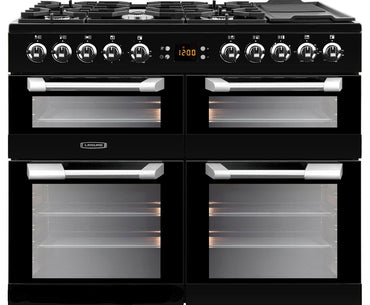 Leisure CS100F520K 100cms Dual Fuel Range Cooker - Black