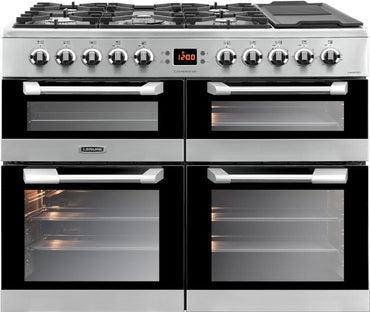 Leisure CS100F520X 100cms Dual Fuel Range Cooker - Stainless Steel