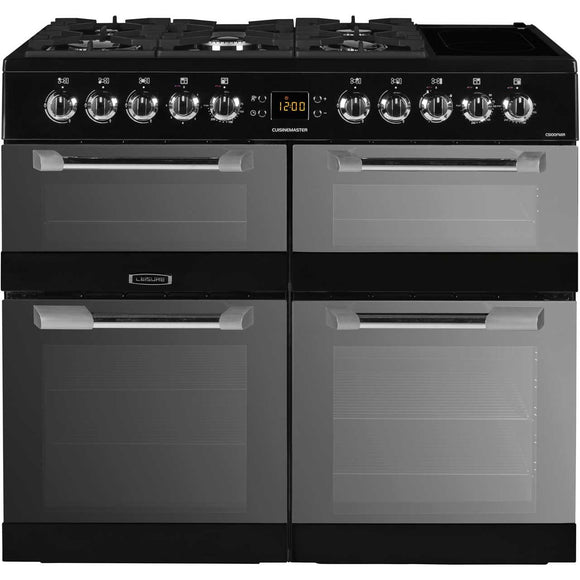 Leisure CS100FMIRK 100cms Dual Fuel Range Cooker - Black