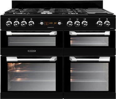 Leisure CS110F722K 110cms Dual Fuel Range Cooker - Black