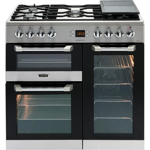 Leisure CS90F530X 90cms Dual Fuel Range Cooker - Stainless Steel