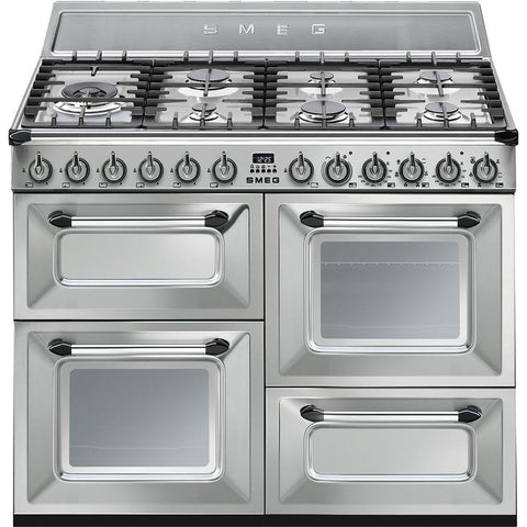 Smeg TR4110X 110cms Dual Fuel Range Cooker - Stainless Steel
